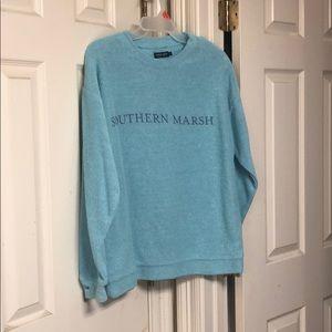 Terry cloth sweatshirt